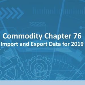 Commodity code chapter 76: Import and export data for 2019